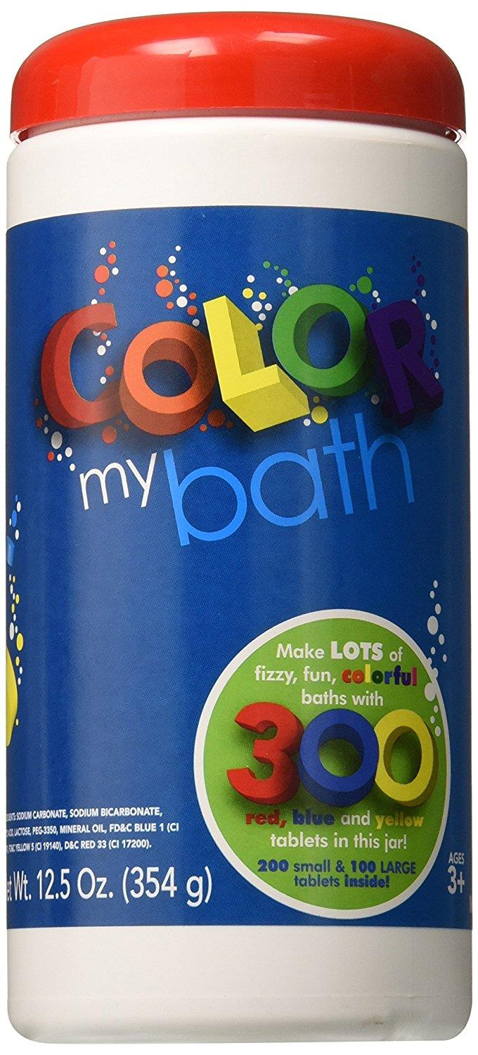 Color My Bath Color Changing Bath Tablets, 300-Piece, Made in USA