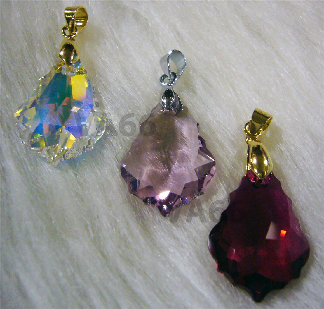 Color Choice Swarovski Strass 6090 Baroque Crystal Pendant 22mm x 15mm