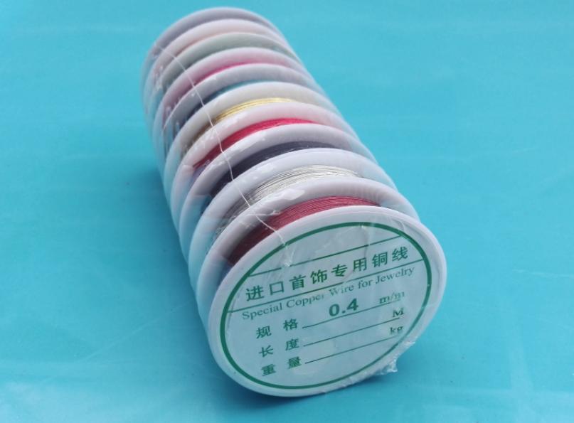 Colored Copper Wire Thread 0.4 mm d (end 9/23/2018 12:28 PM)