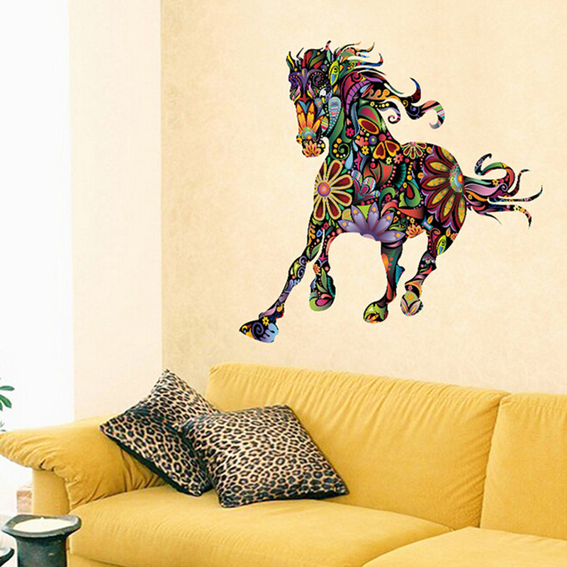 colorful 3d horse wall sticker for b (end 3/18/2019 6:19 am)