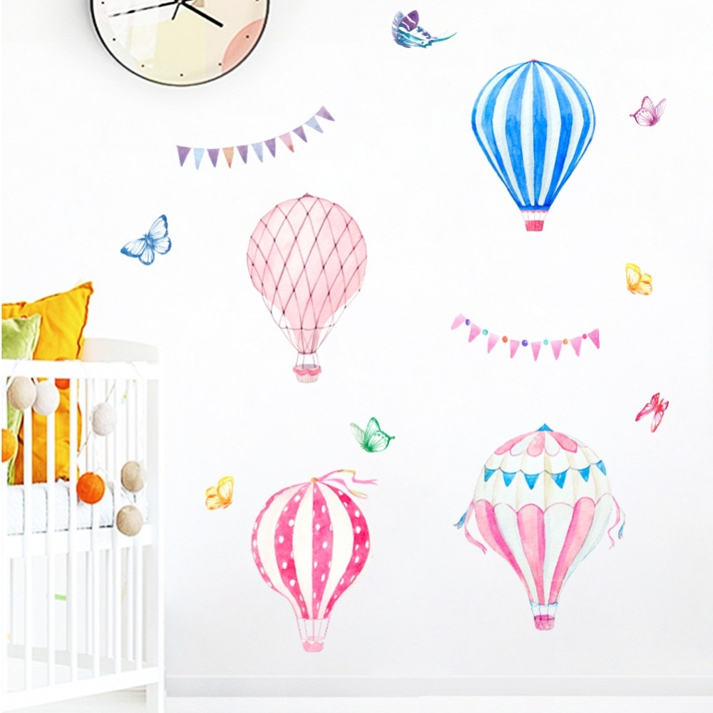 Colorful Balloons Erfly Wall Dec