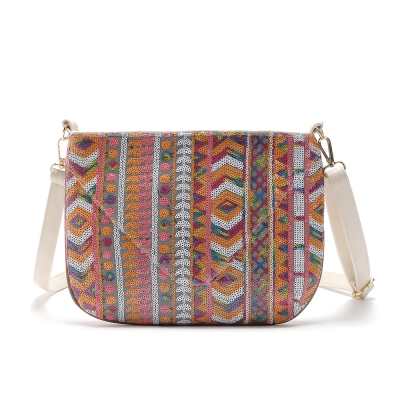 Colorful Geometric Sequin Small Crossbody Bag