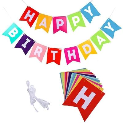 Colorful Happy Birthday Bunting Banner Decorations