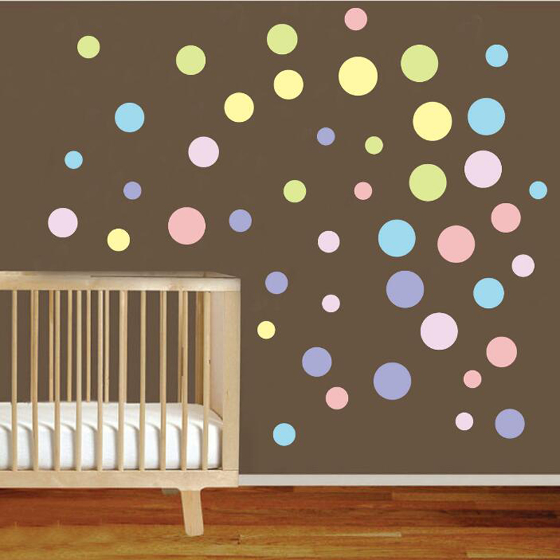 Background Colorful Room: Colorful Polka Dot Wall Sticker Kid (end 7/11/2021 12:00 AM