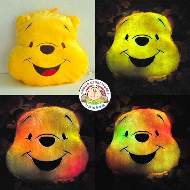 f44f0a0c7d34 Colorful Rainbow Light LED Luminous Winnie Pooh Cushion Plush Pillow. ‹ ›