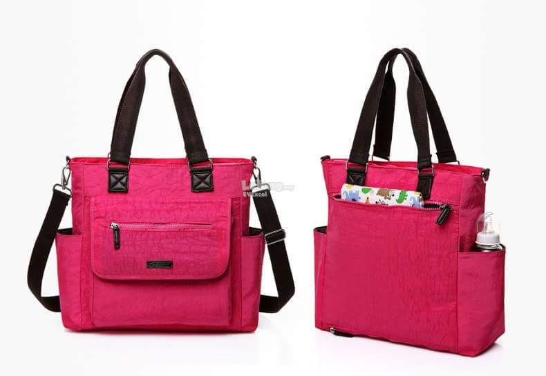 Colorland Adalia Red Tote Baby Mummy Bag (Rose Red)