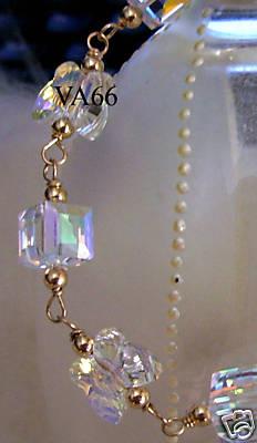 Colors 14k Gold Swarovski Crystal Bracelet Suasa Erfly Cube Gelang