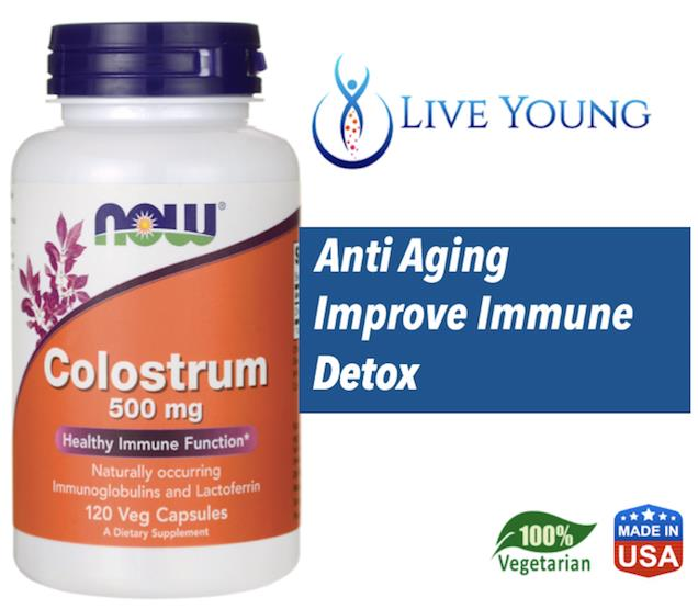 Colostrum 500mg, 100% Vegetarian (Immune, Wrinkles, Detox, Aging) USA
