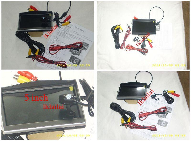 Colour Reverse Camera with Warning Line + 5 inch TFT LCD Monitor