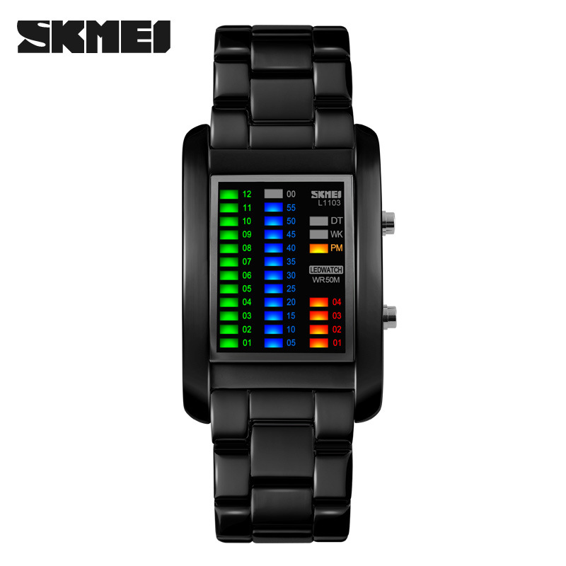 Colour World SKMEI LED Digital Men Watch SKM1103 Black