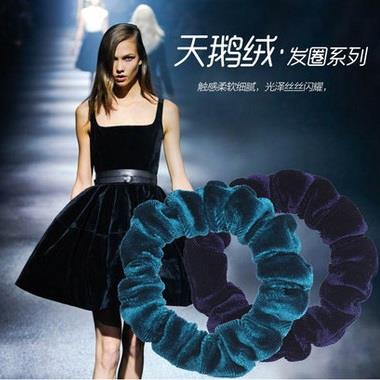 Colourful Soft Velvet Hairtie Hairband