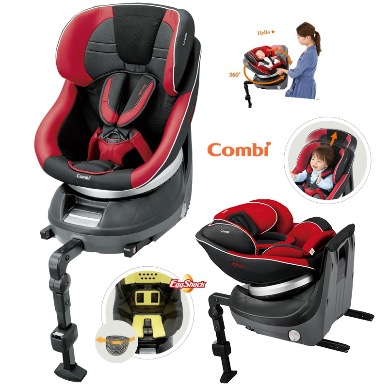 Combi 115791RD Baby Car Seat Cradling 360 Isofix Laser Red Supporting