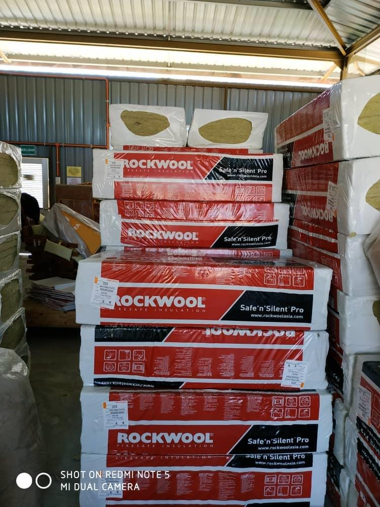 Combination insulation exterior cavity rockwool rock-wool stone