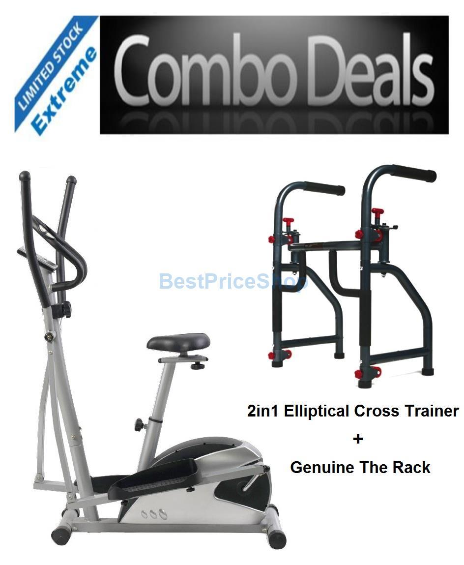COMBO 2in1 Elliptical Cross Trainer Genuine The Rack Gym Workout Gym