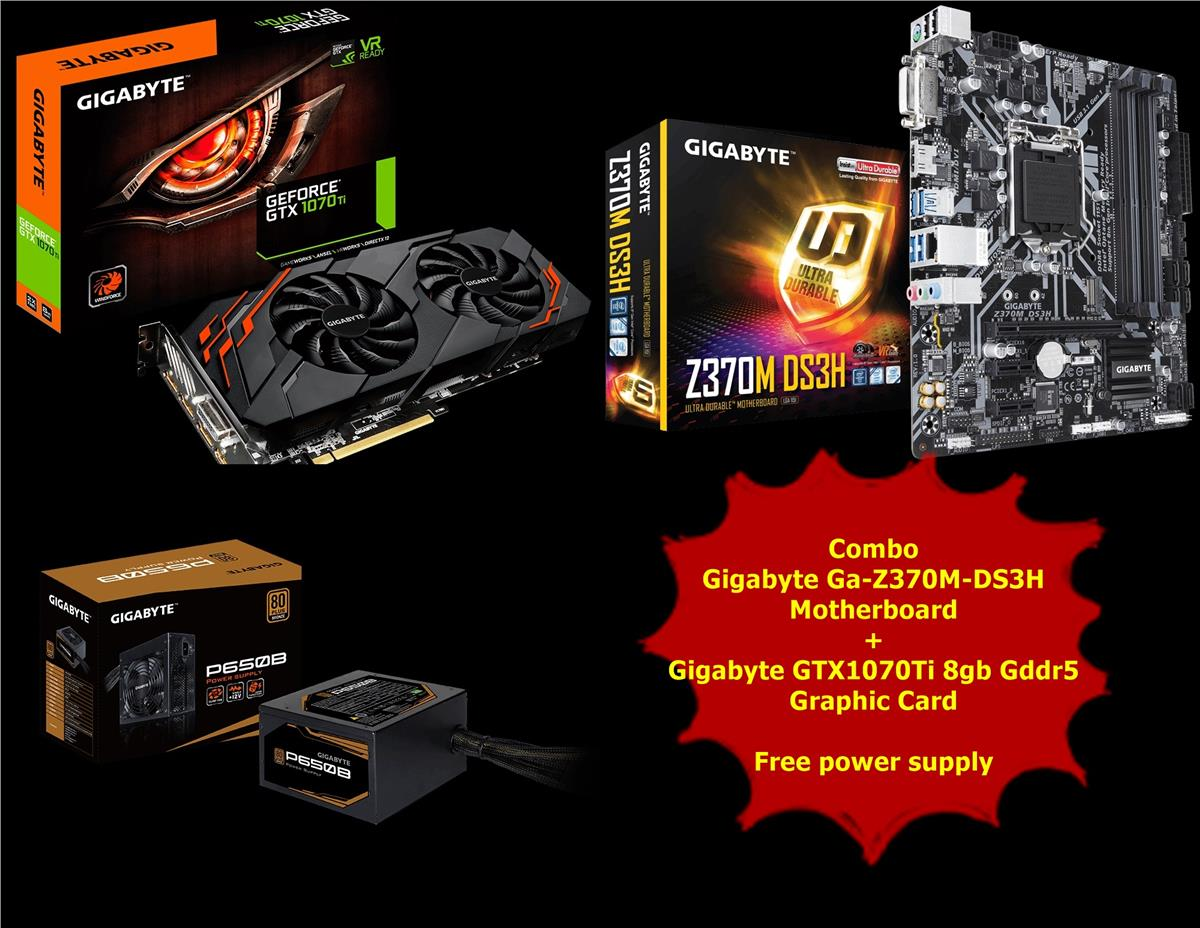 Combo Graphic Card + Motherboard * Get free power supply