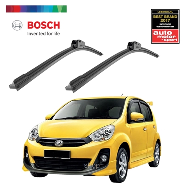 [Combo Set] Bosch Clear Advantage Wiper Blade Set (21+17 inch) for Perodua Myv