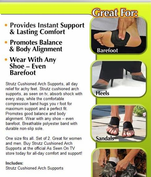 7516c1b330 Comfort your Feet - Strutz Cushioned Arch Supports - RM39 Get 3 Units