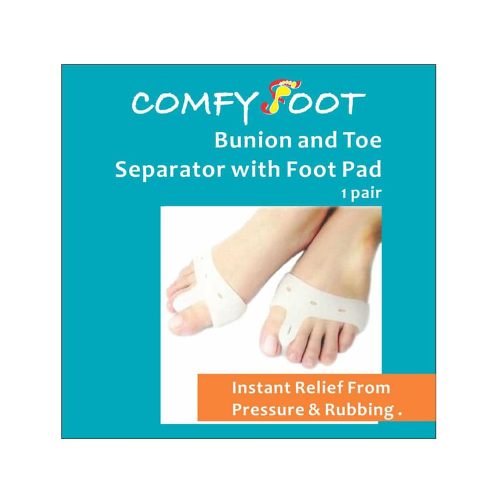 COMFY FOOT Bunion and Toe Separator with Food Pad 1 Pair 1s
