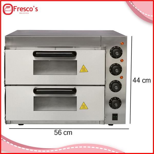 Commercial pizza oven double deck stone base