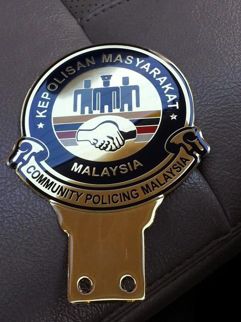 Community Policing Car Emblem Badge Exclusive Gold Plated Rare Model