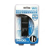 Compact 3600mAh White/Black Rechargeable Battery Pack Wii Remote w USB