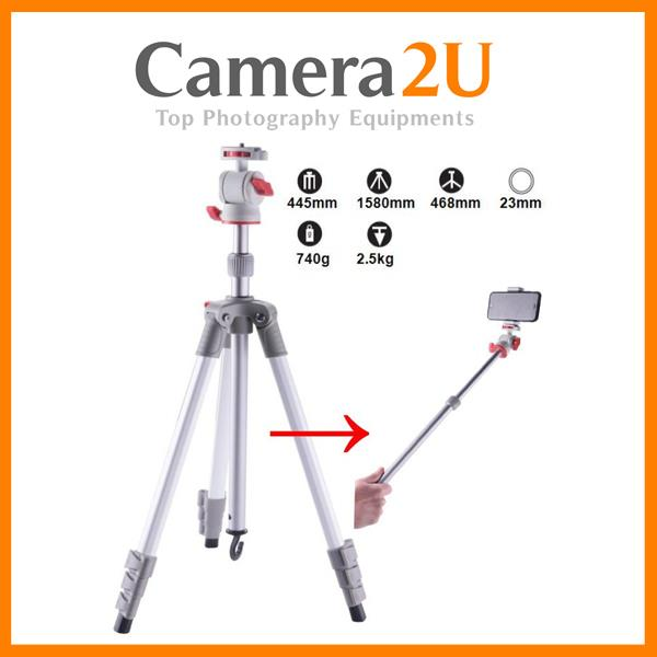 Compact Travel Tripod For Phone And Camera T206