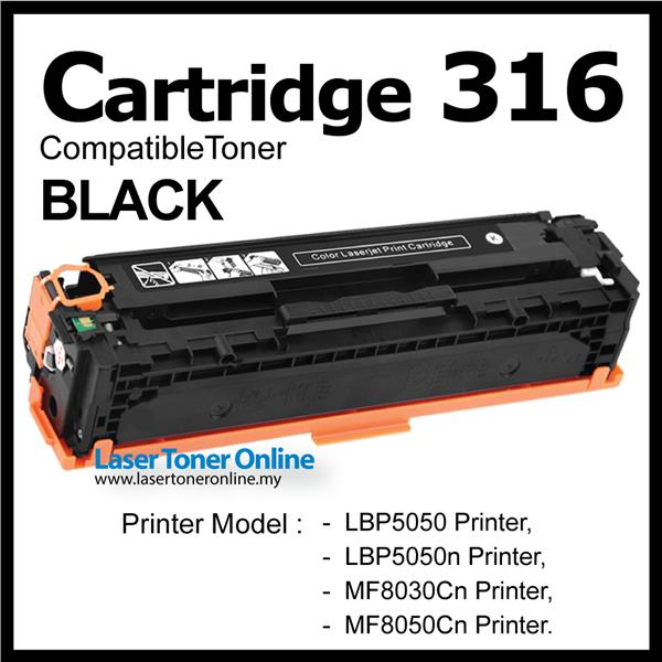 Compatible Canon Cartridge 316 CRG316 Black LBP5050n MF8030cn LBP5050