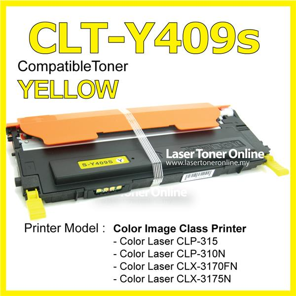 Compatible CLT-K409S CLP-315 310N 3170FN 3175N Yellow Laser Printer