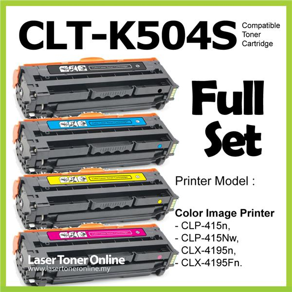 Compatible CLT-K504s Color CLP-415 415N 415NW CLX-4195N 4195FN Laser