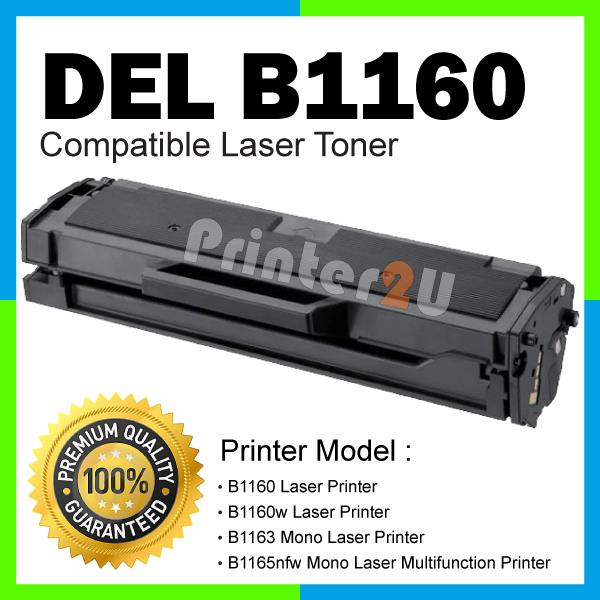 Compatible Dell B1160 B1160w B1163 B1165nfw 1160 B1163 B1165 w Black