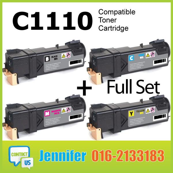 MY Compatible Fuji Xerox C1110 1110B Black Color Laser Toner Cartridge