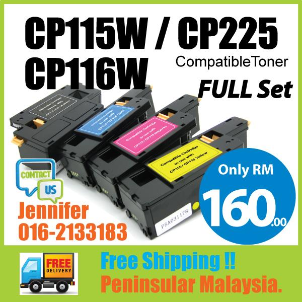 Compatible Fuji Xerox CP115W CP/CM 115W 116W 225W Full Set Color Toner
