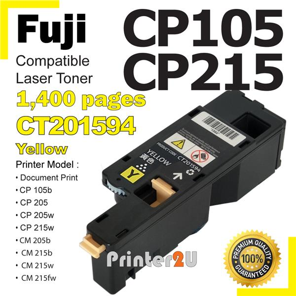 Compatible Fuji Xerox Docuprint CP105b CP105 CP205 CP205W CM205 Yellow