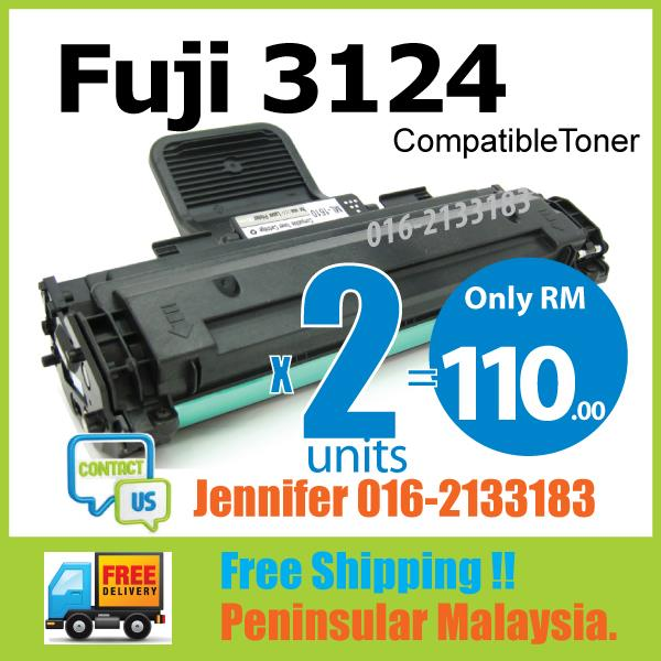 Compatible Fuji Xerox Phaser 3124/P3124 Laser Toner Black Cartridge