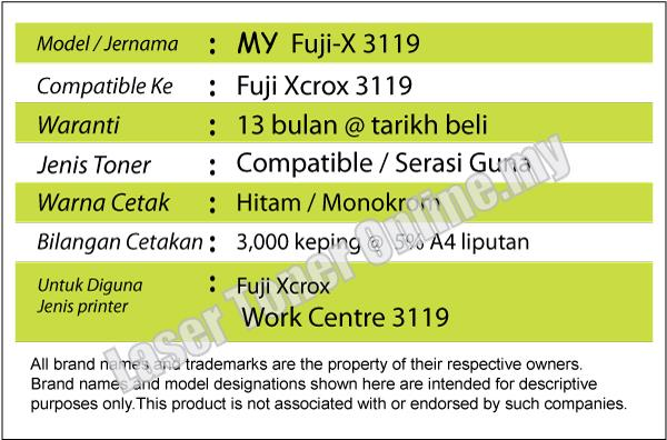 Compatible Fuji Xerox Work Centre WorkCentre 3119 Laser Toner CWAA0713