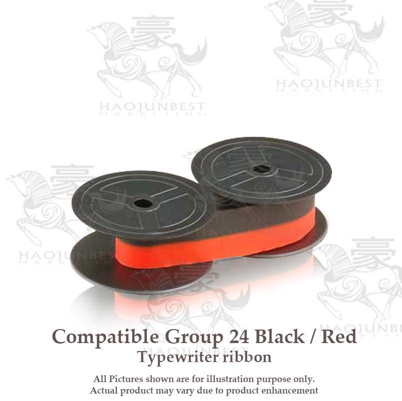 Compatible Group 24 Black / Red ribbon