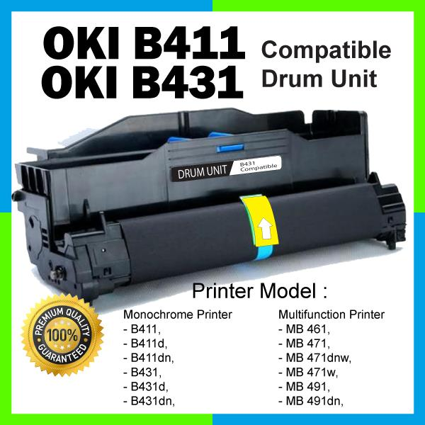 Compatible OKI B411/B431 Drum KIT B 411 431 MB 471 471w MB491 MB492dn
