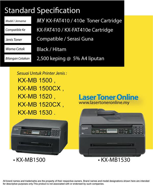 Compatible Panasonic KX-FAT410E FAT410 MB1500 MB1507 MB1510 MB1520 410
