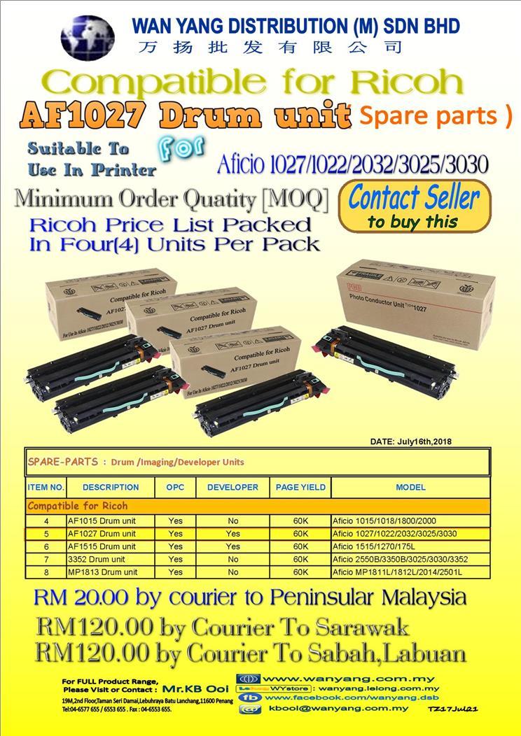 Compatible for Ricoh Aficio 1027/1022/2032/3025/3030