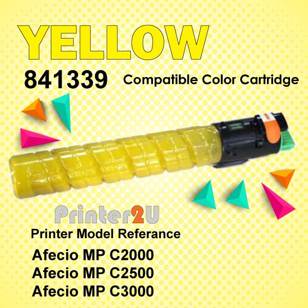 Compatible Ricoh Aficio Yellow Toner Cartridge MPC2000 MPC2500 MPC3000