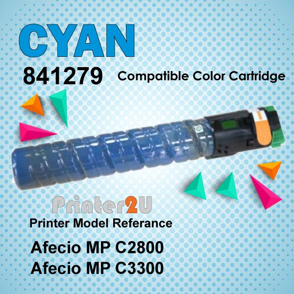 Compatible Ricoh Cyan Photostat Toner MPC2800 MPC3300 MP C2550 C3300