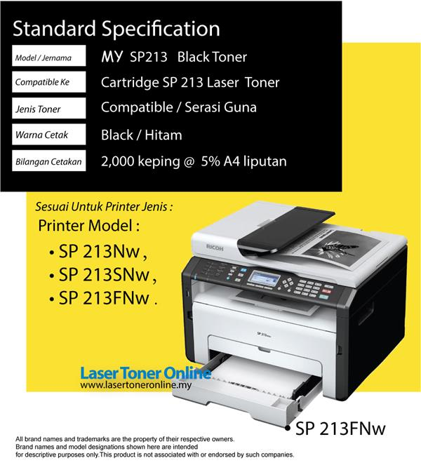 Compatible Ricoh SP213 407256 SP 213Nw 213SNw 213SFNw Laser Toner