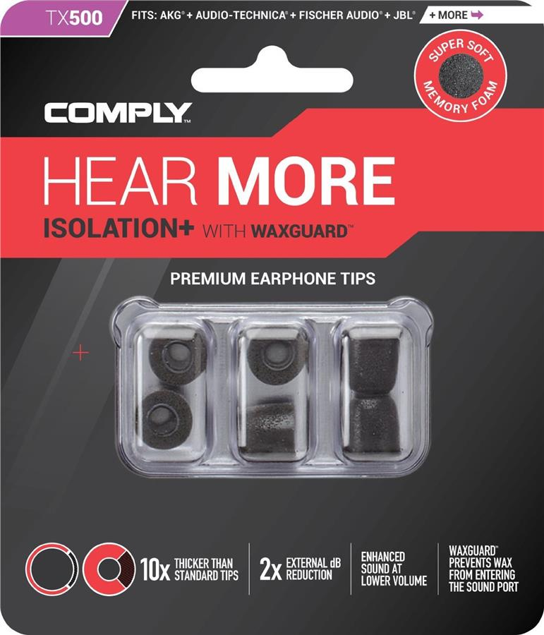 Comply Isolation Foam Earphone Tips TX-500 / TX500 3 Pair