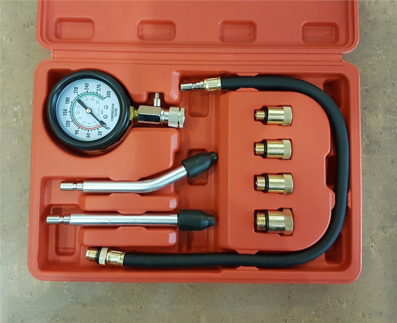 Compression Tester Test Kit Gauge Car Motorcycle ID30594