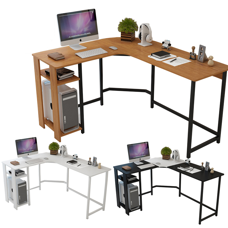 Computer Desk Modern Corner Home Desktop L Shaped Table