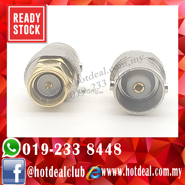 Connector BNC female to SMA male