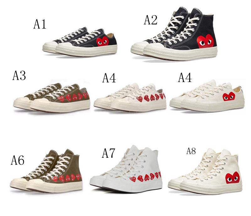 beste selectie 2020 verkoop usa online Converse COMME DES GARCONS PLAY Low Help Classic Trend Canvas Shoes