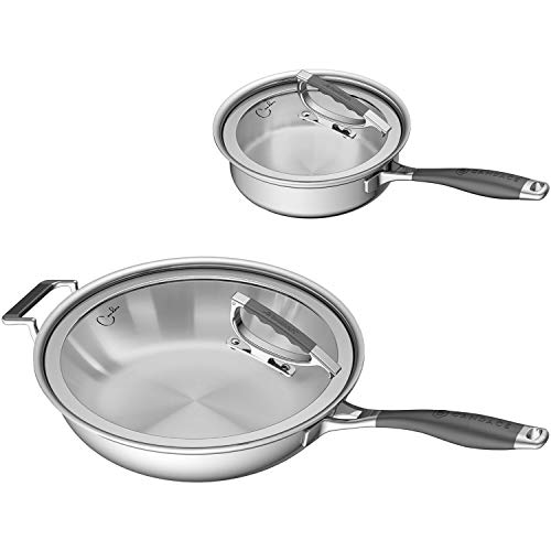 ..// CookCraft by Candace Stainless Steel 4-Piece Tri-Ply Essential Cookware S