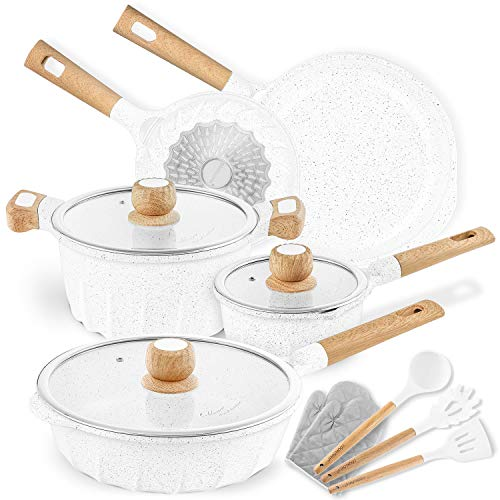 ..// Cookware Set Nonstick 100% PFOA Free Induction Pots and Pans Set with Coo