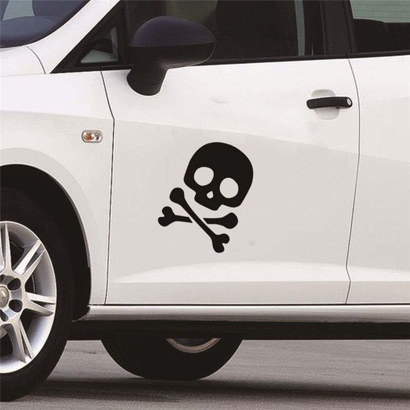 Cool Skull Office Seat Stickers Toilet Car Wall Sticker Decal adesivo